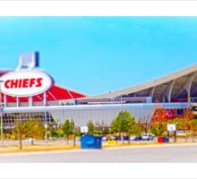 Arrowhead Stadium, Kansas City Chiefs, Tilt-Shift, Color Sticker