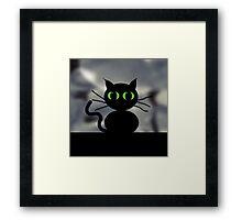 SPOOKY CAT Framed Print