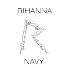 Rihanna Navy &#x27;R&#x27; Design White Case by TalkThatTalk