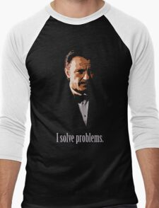 Mr. Wolf. Problem Solver. Men's Baseball ¾ T-Shirt