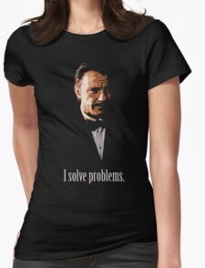 Mr. Wolf. Problem Solver. Womens Fitted T-Shirt