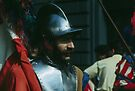 Shining Helmeted gentleman, C16 Costume Parade Florence Italy 19840708 0038 by Fred Mitchell