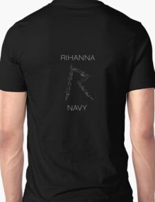Rihanna Navy 'R' Design Black Case T-Shirt