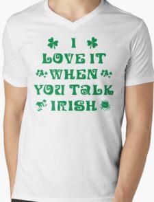 Talk Irish To Me Mens V-Neck T-Shirt