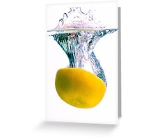 Grapefruit Back Splash Greeting Card