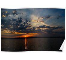 Sunrise on Lake Brasilia Poster