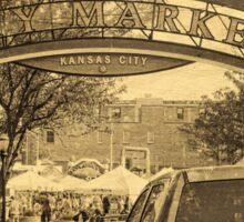 Kansas City River Market, City Market, Farmer's Market, Vintage Style Sticker