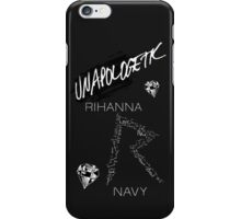 "Rihanna Navy ""Unapologetic"" Black Design iPhone Case/Skin"