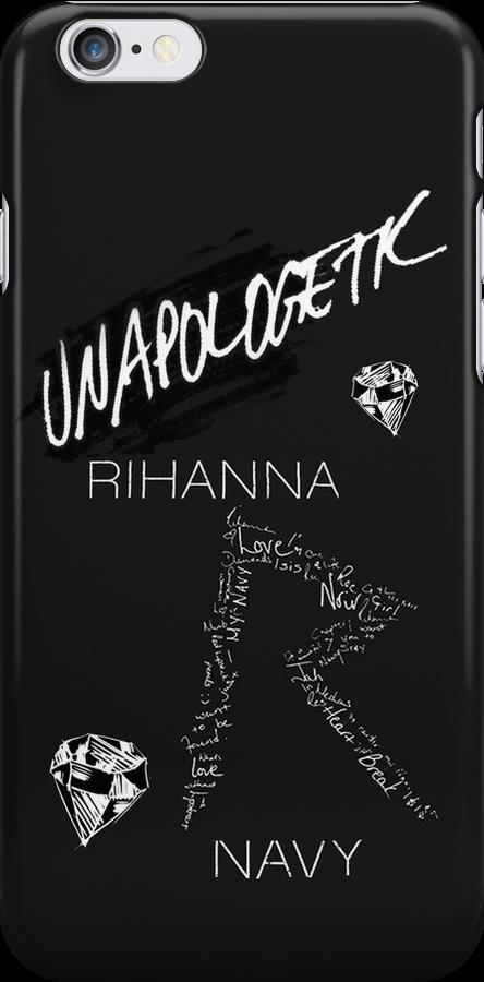 "Rihanna Navy ""Unapologetic"" Black Design by TalkThatTalk"