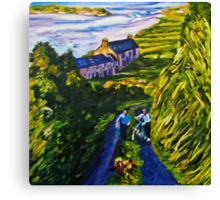 """Road Scene, near Rossport, County Mayo."" Canvas Print"