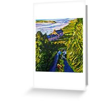 """Road Scene, near Rossport, County Mayo."" Greeting Card"