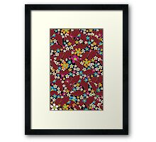 Retro flowers Framed Print