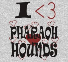 I <3 Pharaoh Hounds Kids Clothes