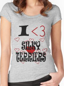 I <3 Silky Terriers Women's Fitted Scoop T-Shirt