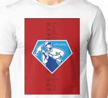 Labor Day Greeting Card Builder Worker Hammer Unisex T-Shirt
