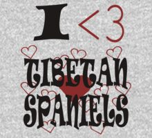 I <3 Tibetan Spaniels Kids Clothes