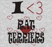 I <3 Rat Terriers Kids Clothes