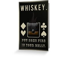 Whiskey Greeting Card