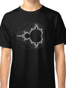 White - Linear Mandelbrot Classic T-Shirt
