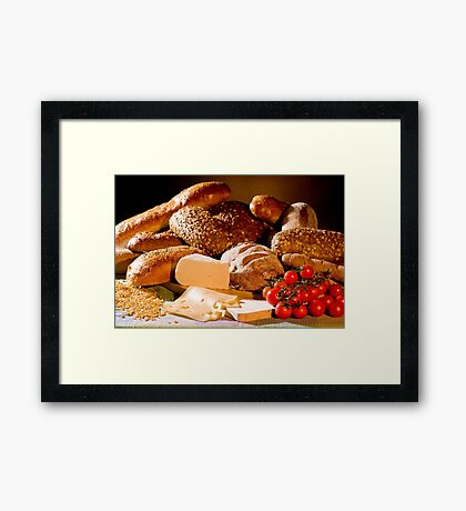 Bread And Cheese Framed Print