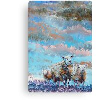 The Golden Flock - Colorful sheep painting Canvas Print