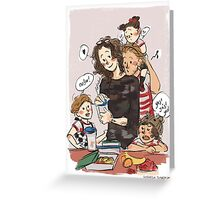 Domestic Dads Greeting Card