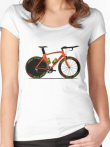 Time Trial Bike Women's Fitted Scoop T-Shirt