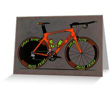 Time Trial Bike Greeting Card
