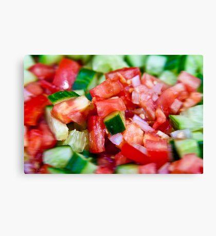 Vegetable salad / Arabic Salad Canvas Print