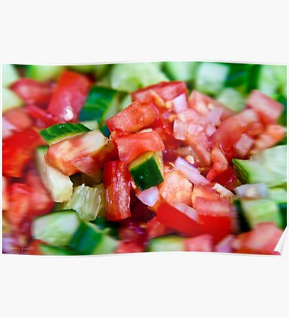 Vegetable salad / Arabic Salad Poster