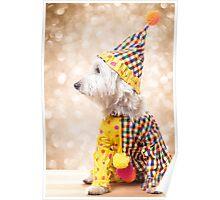 Circus Clown Dog Poster