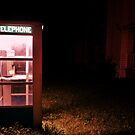 Found this phone booth in the middle of a field. 4 a.m. drives are so strange. by Andrea Morris
