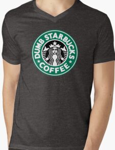 Dumb Starbucks Coffee Mens V-Neck T-Shirt