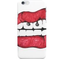 Piercing mouth iPhone Case/Skin