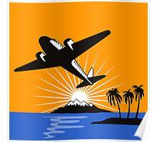 Propeller Airplane Retro Poster