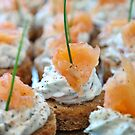 Smoked Salmon Canapes by Ludwig Wagner