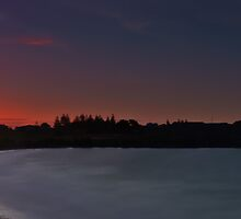 Low Head Tasmania - long exposure sunset panorama  by fotosic