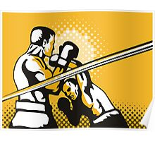 Boxer Boxing Knockout Punch Retro Poster