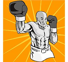 Boxer Boxing Knockout Punch Retro Photographic Print