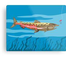 Trout Fish Retro Metal Print