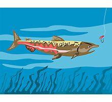 Trout Fish Retro Photographic Print