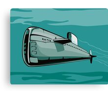 Submarine Boat Retro Canvas Print