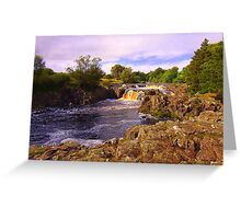 Low Force, River Tees, Upper Teesdale North England- Mid September Greeting Card