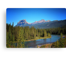 The Famous Castle Mountain Canvas Print