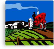 Vintage Tractor Retro Canvas Print