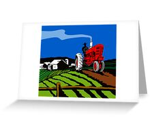 Vintage Tractor Retro Greeting Card