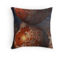 Globes From Outer Space Throw Pillow
