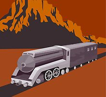 Steam Train Locomotive Retro by patrimonio