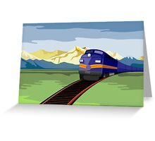 Diesel Train Retro Greeting Card