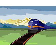 Diesel Train Retro Photographic Print